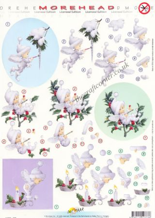 Morehead Cute Christmas Fairy 3D Die Cut Decoupage Sheet